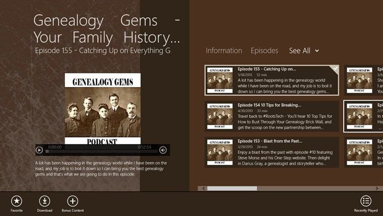 Genealogy Gems - Your Family History Show screen shot 0
