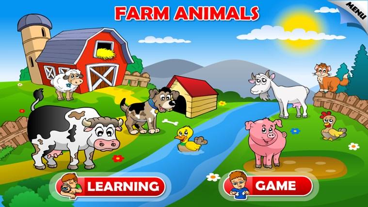 Farm Animals For Kids Kids Animals Farm  amp Zoo screen