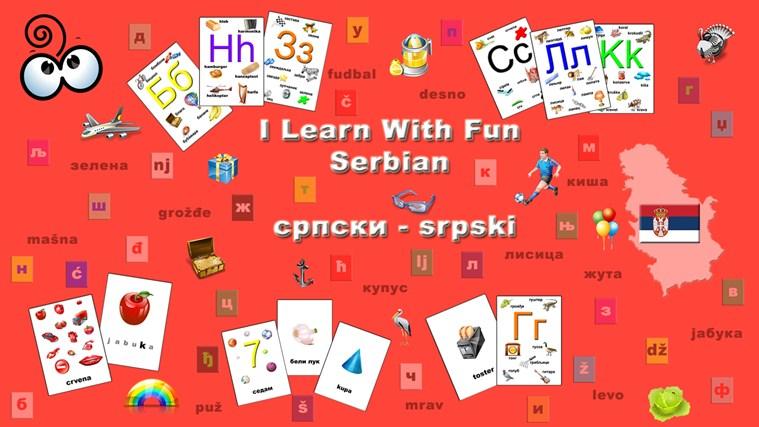 I Learn With Fun - Serbian screen shot 0