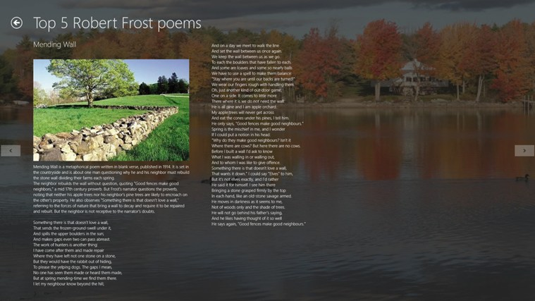 """the wall in robert frosts mending Robert frost 101 his poems can be frost was a traditionalist in his style, preferring to write in blank verse and often with rhyme  """"mending wall."""