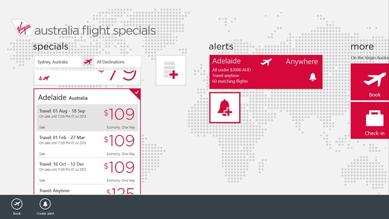 Flight Specials screen shot 2
