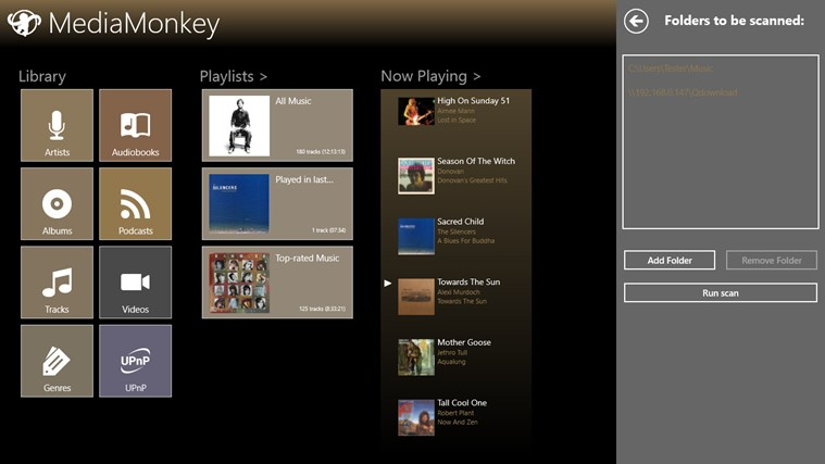 MediaMonkey app for Windows in the Windows Store