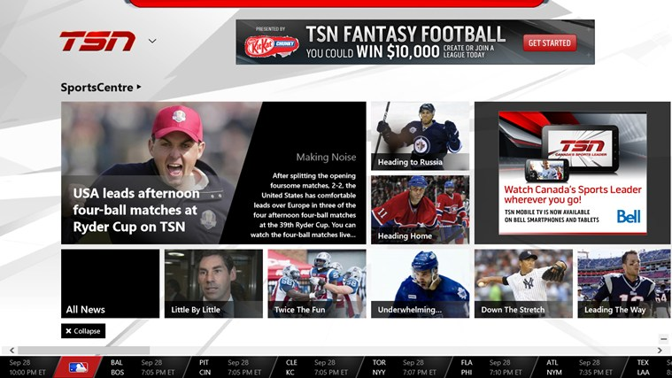 TSN screen shot 0