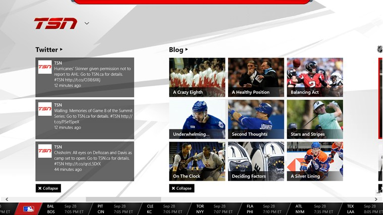 TSN screen shot 2