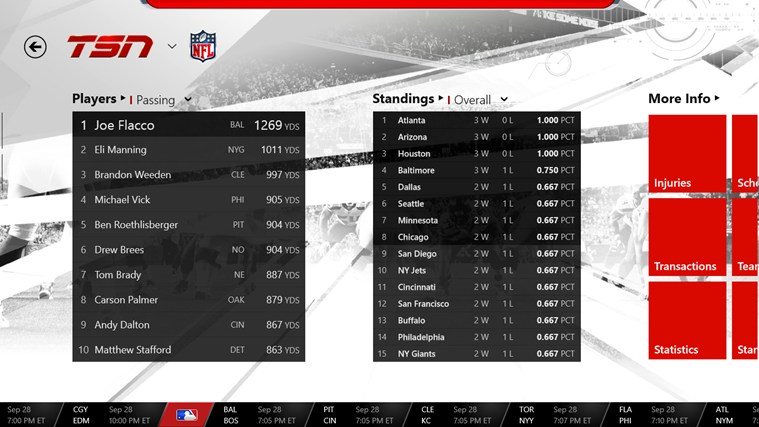 TSN screen shot 4