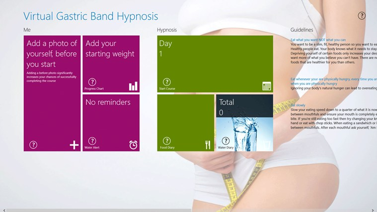 virtual gastric band hypnosislose weight fast app for