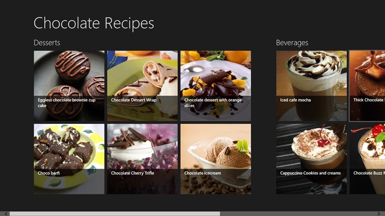 Chocolate Recipes screen shot 0