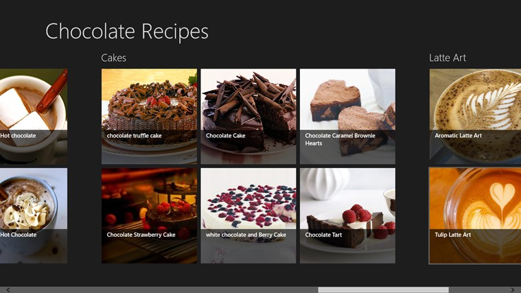 Chocolate Recipes screen shot 2