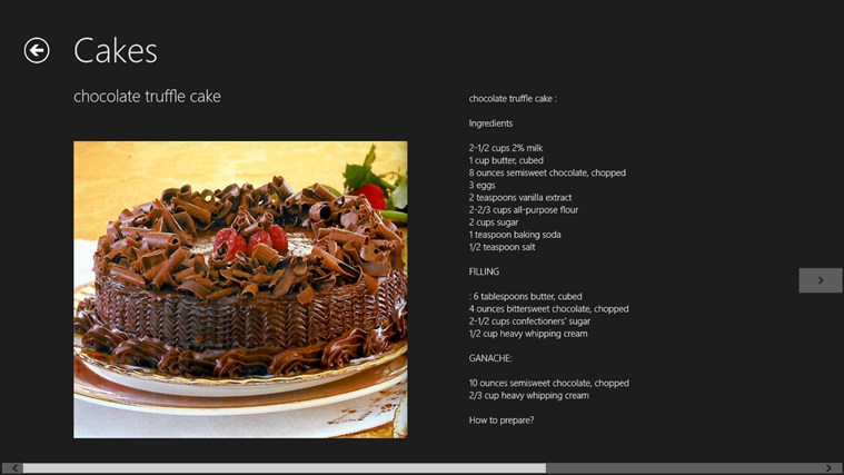 Chocolate Recipes screen shot 6