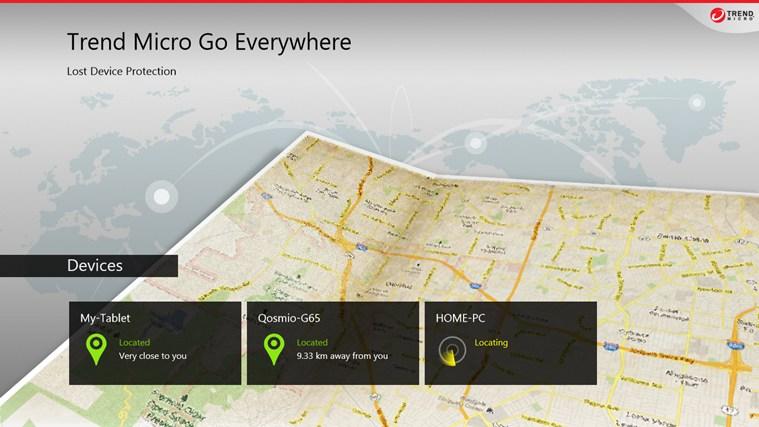 《針對Windows 8 趨勢科技推出資安防護雙APP 》SafeGuard(網頁威脅過濾器)、Go Everywhere(行動裝置定位器)