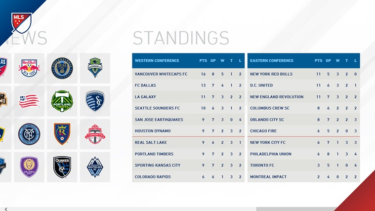 MLS MatchDay screen shot 2