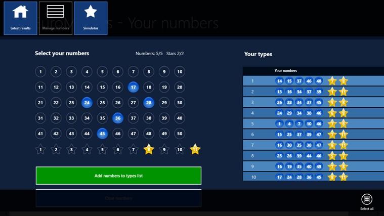 EuroMillions - Results Checker posnetek zaslona 2