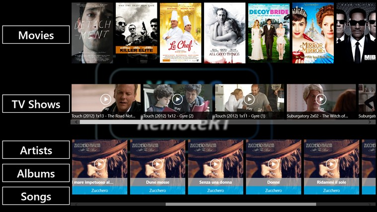 XBMC RemoteRT screen shot 0