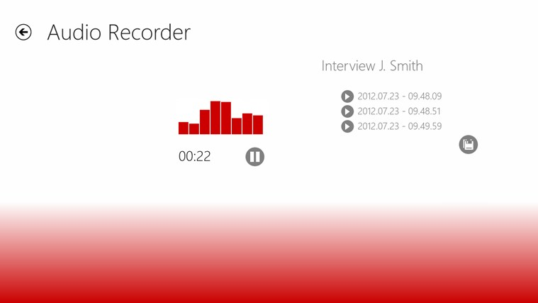 Audio Recorder screen shot 0
