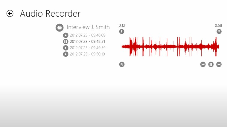 Audio Recorder screen shot 2