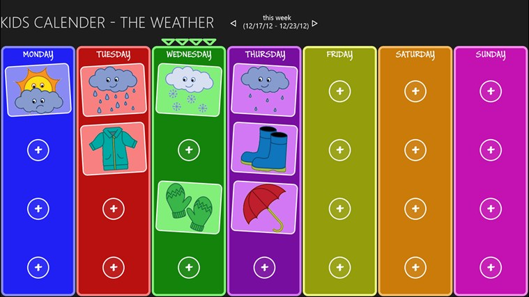 "Kids Weather Calendar : Search results for ""kids calendar"