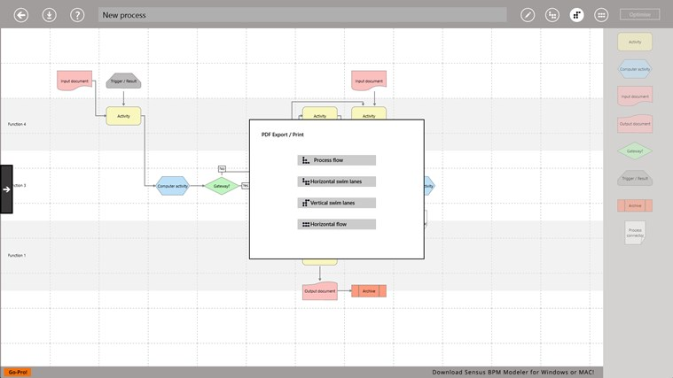 Process Modeller screen shot 0