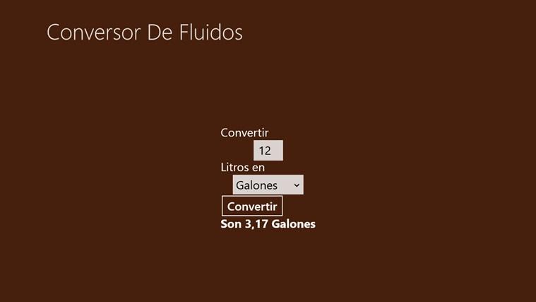 Convertidor Unidades Líquidos captura de pantalla 2