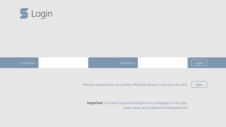 Stacks for Instapaper screen shot 0