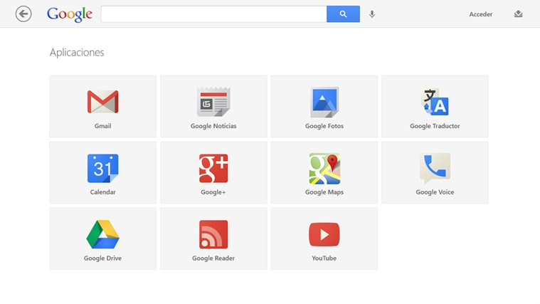 Google Search captura de pantalla 2