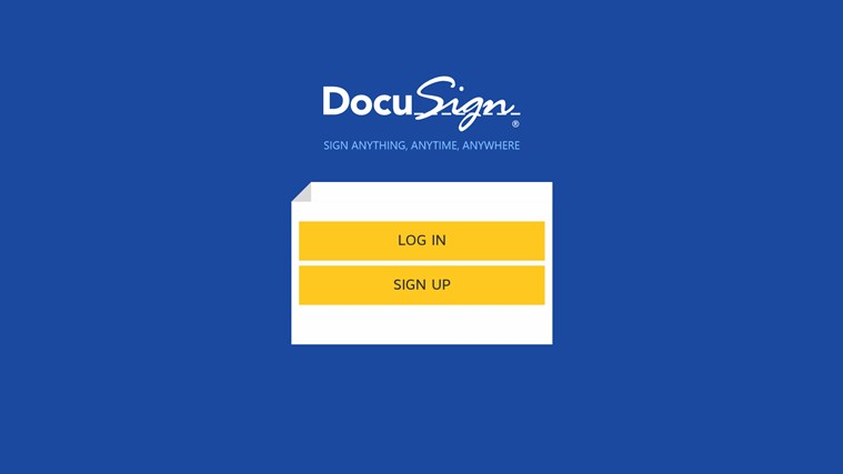 DocuSign screen shot 0