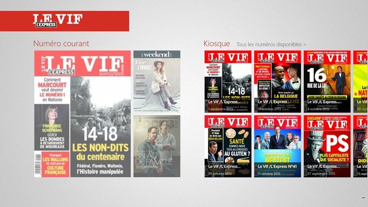 Le Vif/L'Express capture d'écran 0