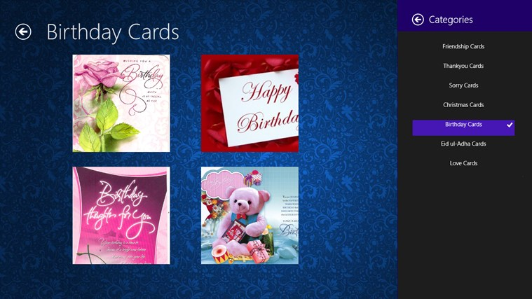 Greeting-Cards screen shot 2
