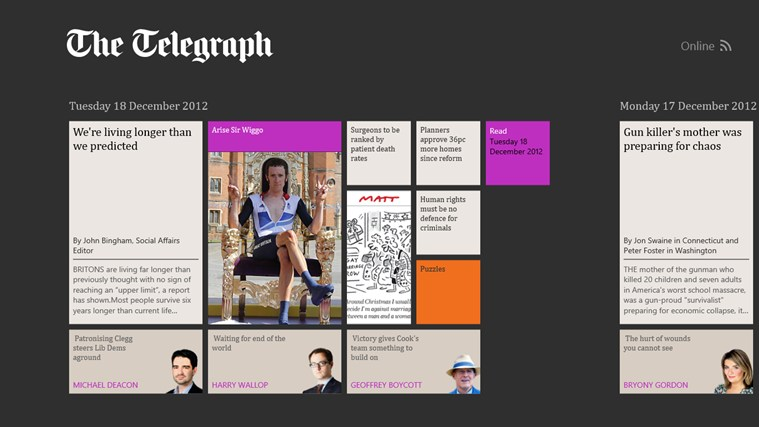 The Telegraph screen shot 0