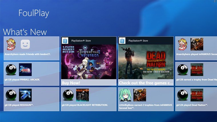 FoulPlay: The Unofficial PlayStation Network App screen shot 2