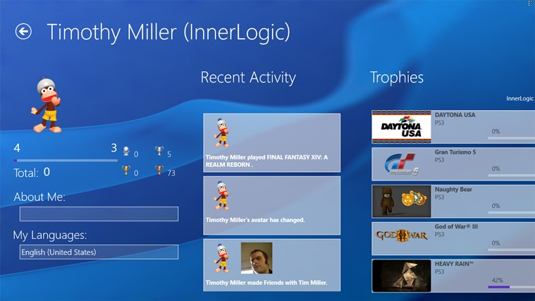 FoulPlay: The Unofficial PlayStation Network App screen shot 4