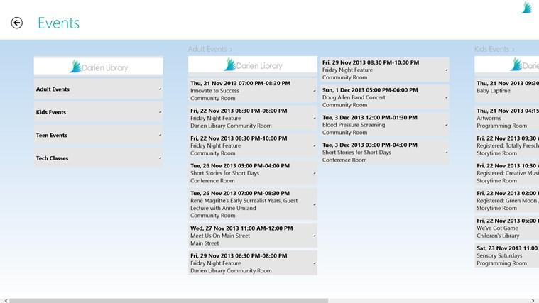 Darien Library screen shot 4