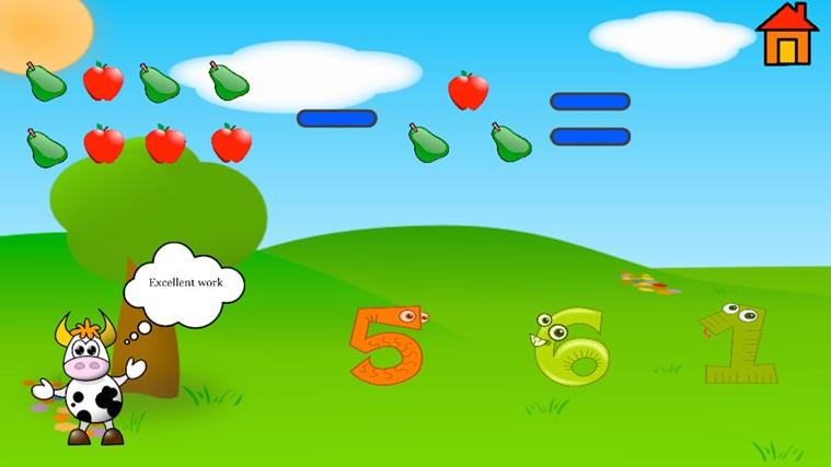 Kindergarten and Preschool learning game screen shot 2