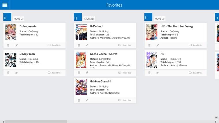 Manga Comics screen shot 6
