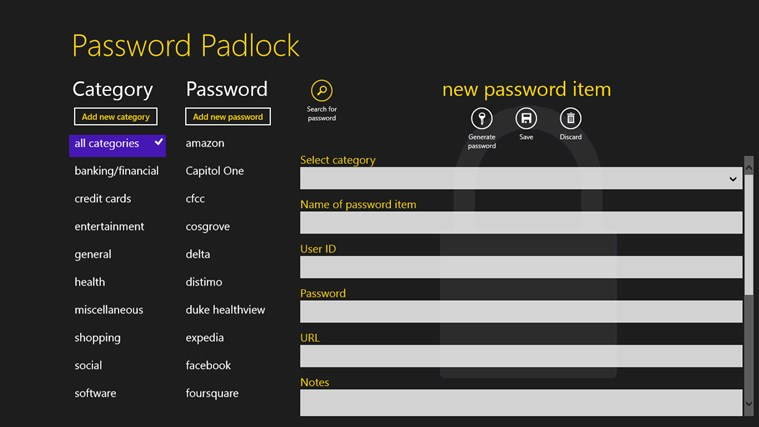Password Padlock screen shot 2