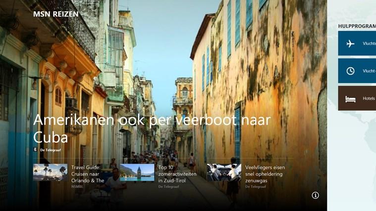 MSN reizen schermafbeelding 0
