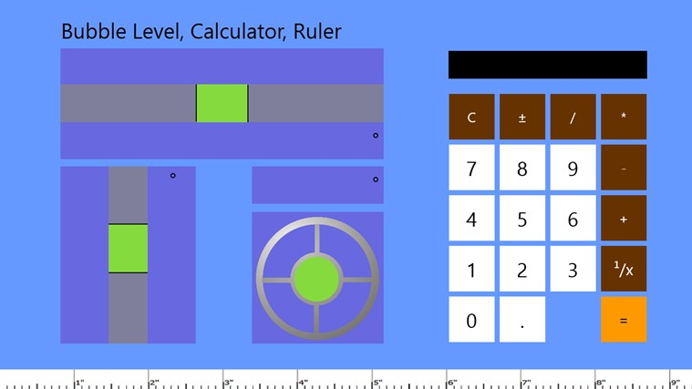Bubble Level, Calculator, Ruler snimak ekrana 0