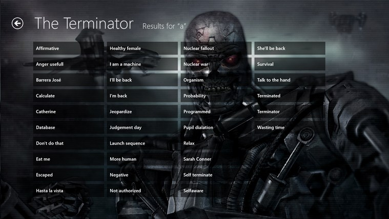 Terminator Soundboard screenshot 2