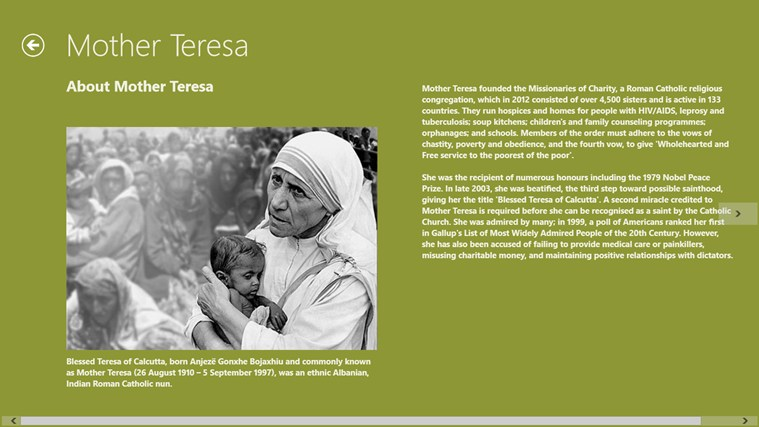 a very short paragraph on mother teresa When you are writing an essay on mother teresa or any other notable figure for that matter, you should start with an introduction in this short paragraph, you should write about her most notable accomplishments, what she is best known for, why is she important in people's lives and so on.