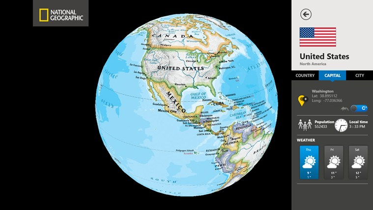 World Atlas by National Geographic screen shot 2