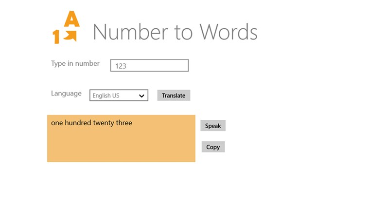 Numbers translation screen shot 0