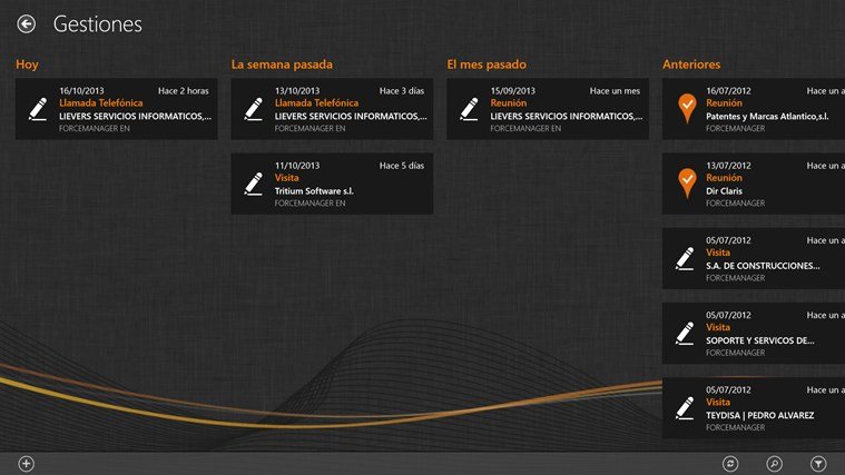 Forcemanager captura de pantalla 4
