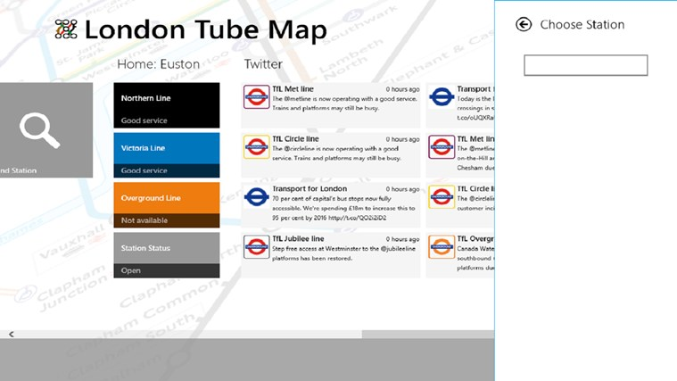 London Tube Map screen shot 2