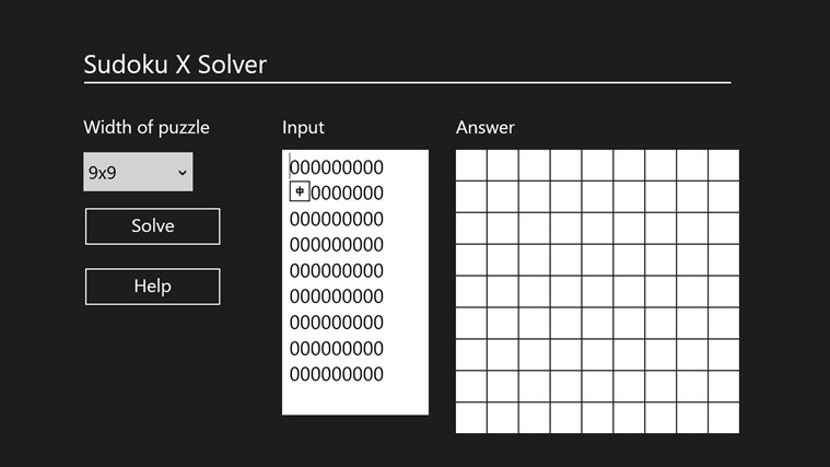 Sudoku X Solver by Yau Hing Yiu screen shot 0