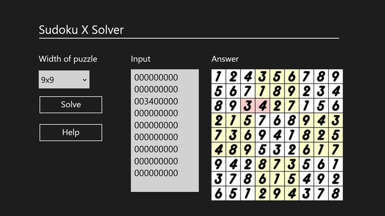 Sudoku X Solver by Yau Hing Yiu screen shot 2