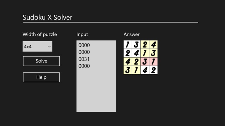 Sudoku X Solver by Yau Hing Yiu screen shot 4