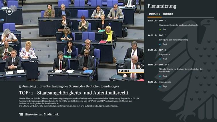 Deutscher Bundestag screen shot 2