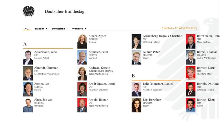 Deutscher Bundestag screen shot 4