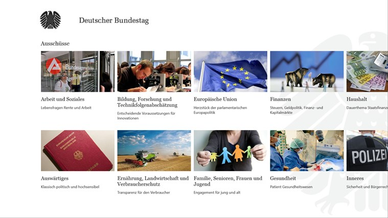 Deutscher Bundestag screen shot 6