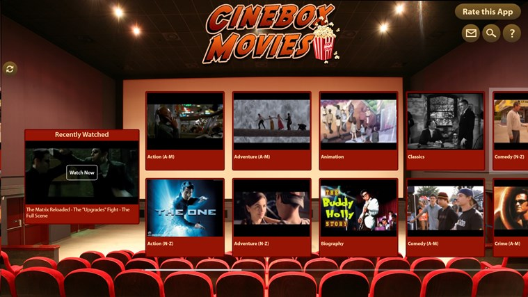 Cinebox Movies screen shot 0