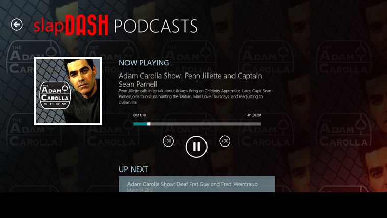 SlapDash Podcasts screen shot 2